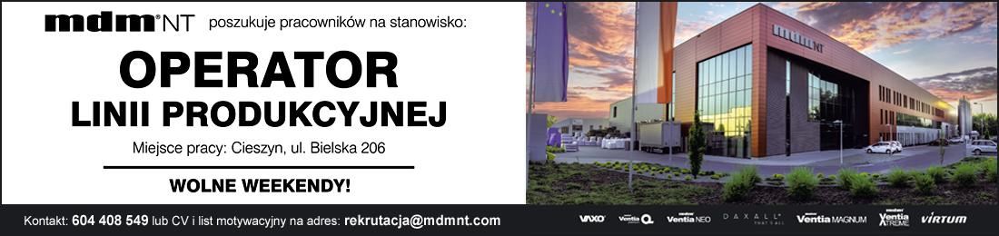 PRACA - Operator Linii Produkcyjnej - MDM NT