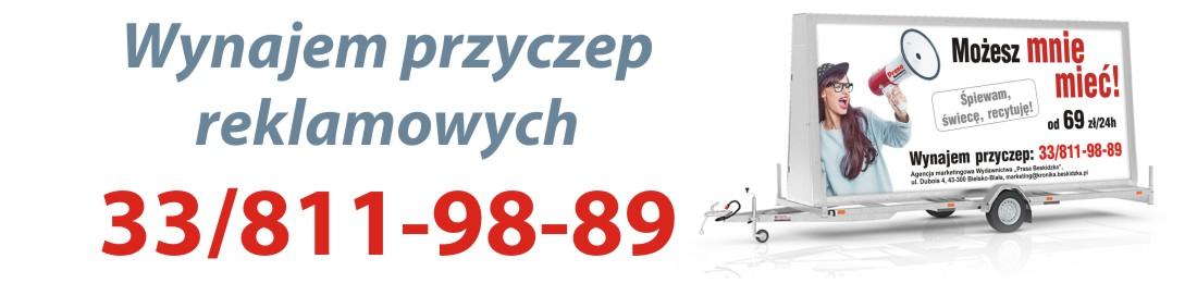 Wynajem przyczep reklamowych Bielsko-Biała